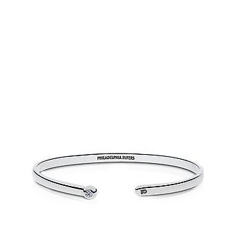 Philadelphia Flyers Engraved Sterling Silver Diamond Cuff Bracelet