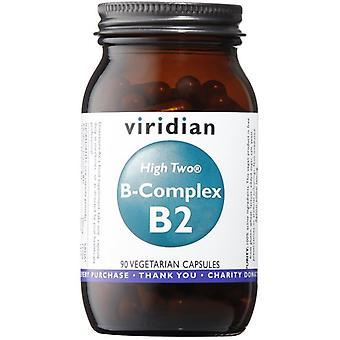 Viridian HIGH Two Vitamin B2 مع B-Complex Veg Caps 90 (237)