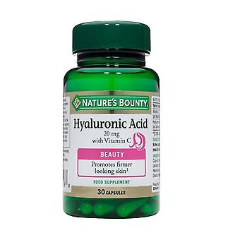 Nature's Bounty Hyaluronic Acid 20 mg with Vitamin C 30 (N13440)
