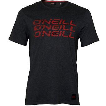 O ' Neill Triple logo Crew-hals T-shirt, mörkgrå melee