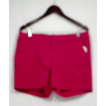 Carlson Shorts Stampato Anteriore zip w / Tasche Rosa scuro