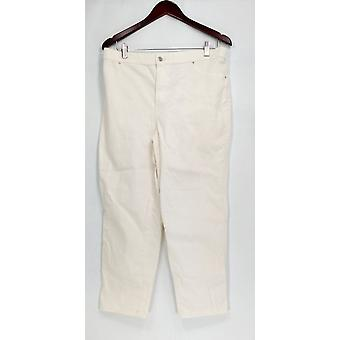 Joan Rivers Classics Coll. Petite Jeans Classic Ankle Length White A303073