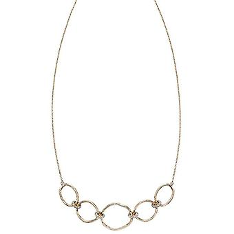 Elements Gold Hammered Connector Necklace - Or/Argent
