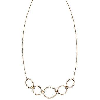 Elements guld hamret Connector halskæde-guld/sølv