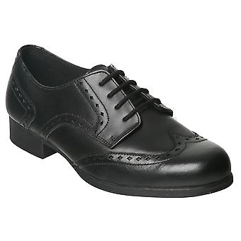 Term Girls Meghan Lace School Shoes Black