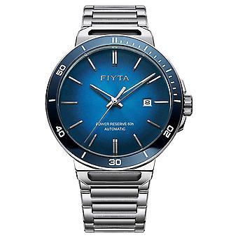 FIYTA samotnie automatyczne ze stali nierdzewnej stali Blue Dial Szafirowe GA852001. WLW zegarek