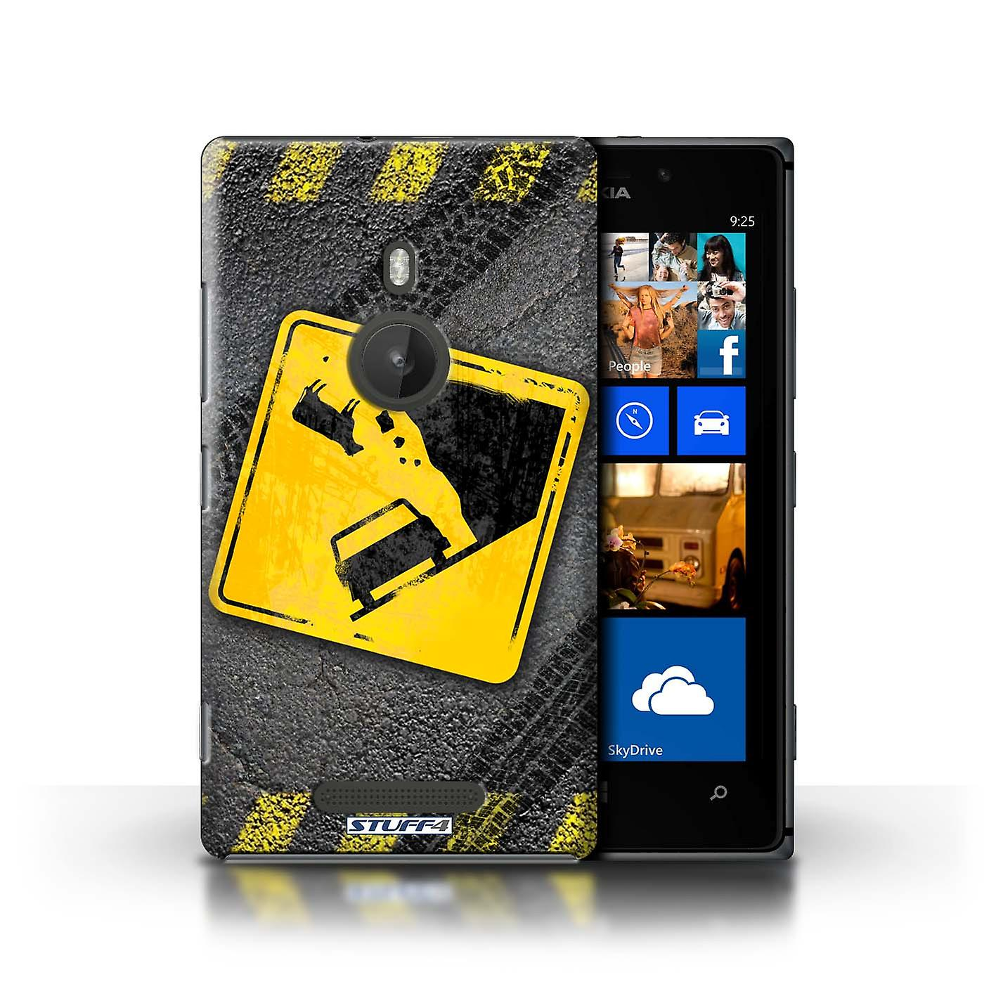 STUFF4 Case/Cover for Nokia Lumia 925/Falling Cow/Funny Road Signs