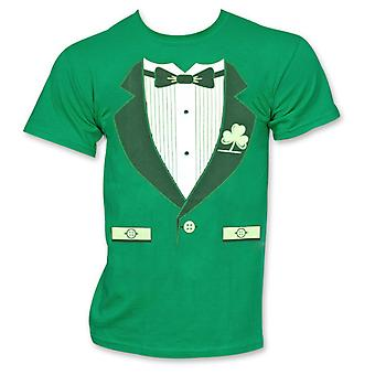Irlandais Tuxedo St. Patrick-apos;s Day Novelty Graphic Green T-Shirt