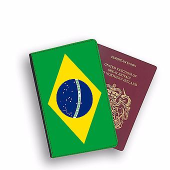 BRAZIL Flag Passport Holder Style Case Cover Protective Wallet Flags design