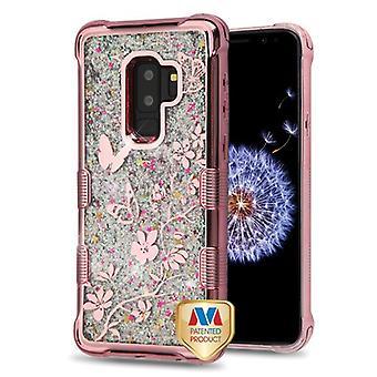 MYBAT TUFF Quicksand glitter Lite hybride geval (Rose Gold) voor Galaxy S9 plus