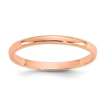 14k Rose Gold poleret for drenge eller piger Ring