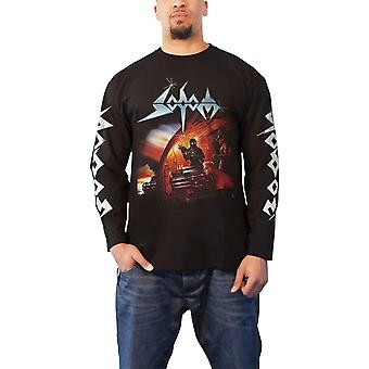 Sodom T Shirt Agent Orange Band Logo nouveau officiel Homme Black Long Sleeve