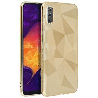 Mocca Galaxy A50 Protective Silicone Flexible Case Gold Metallic