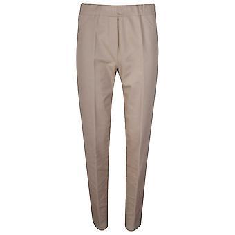 Latte Elasticated Waist Straight Leg Trousers