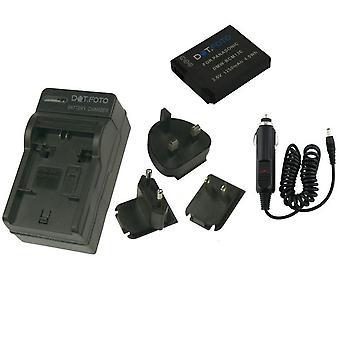 Dot.Foto Panasonic DMW-BCM13 - 3, 6V / 1250mAh batteria batteria e caricabatteria