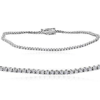"1 1/2 cttw diamant Tennis armband 14k vitguld 7 """