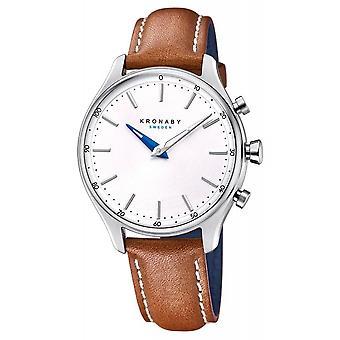 Kronaby S0658-1 Women's Sekel Hybrid Smartwatch With Brown Leather