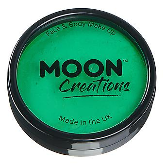 Moon Creations - Pro Face & Body Paint Cake Pots - Bright Green