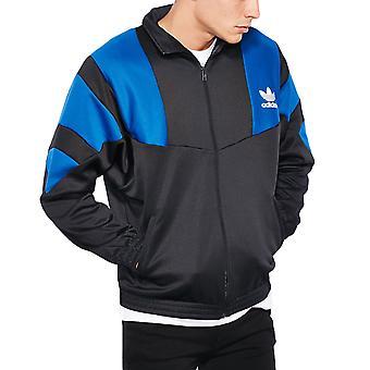 adidas Originals Mens Training Long Sleeve Full Zip Track Jacket Top - Black