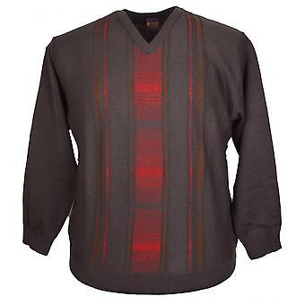 GABICCI Gabicci Patterned V Neck Sweater