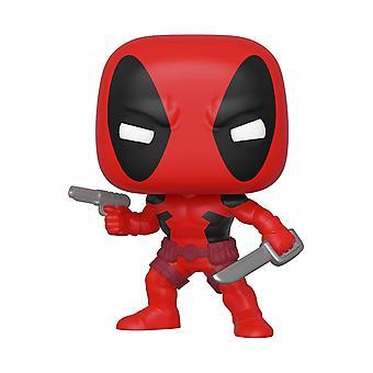 Marvel Deadpool Pop! Viny Figur 80th Deadpool aus Kunststoff, von Funko, in Geschenkbox.