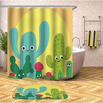 Friendly Cactus Shower Curtain
