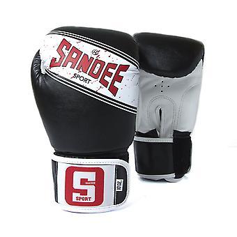 サンディー スポーツ Velcro 2 トーン ボクシング グローブ黒/白