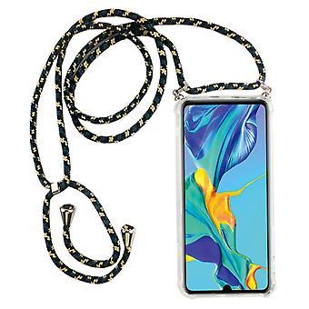 Telefoon keten voor Huawei P30 Lite-smartphone ketting geval met lint-snoer met geval te hangen in camouflage