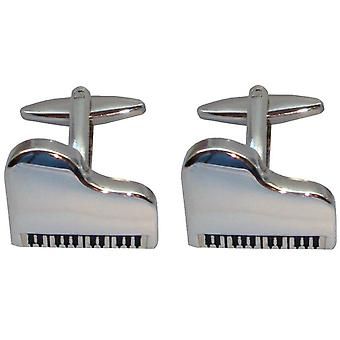 Bassin and Brown Silver Piano Cufflinks - Silver
