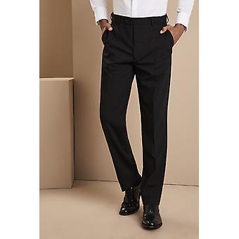 SIMON JERSEY Polywool Black Trousers