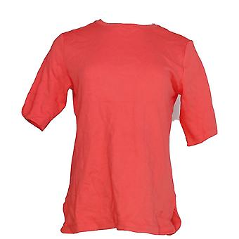 Isaac Mizrahi Live! Kvinner ' s Top Essentials albue ermet rød A306543