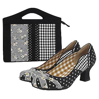 روبي شو المرأة & s بولا منتصف كعب المحكمة الأحذية ومطابقة ليموج حقيبة