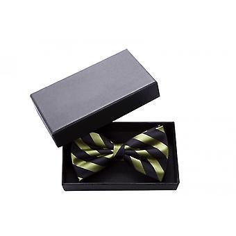 Bow tie black green striped noble shine bow Fabio Farini querbinder