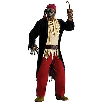Zombie Pirate Ghost Halloween Men Costume One Size