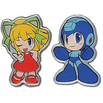Pin Set - Megaman Powered Up - New Megaman & Roll Anime Licensed ge6732