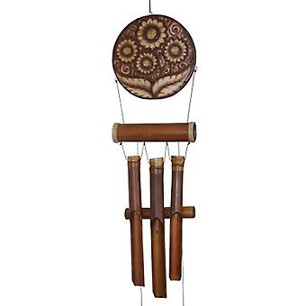 Natural Sunflower Harmony Wind Chime