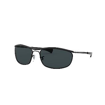 Ray-Ban Olympian Deluxe RB3119M 002/R5 Black/Blue Sunglasses