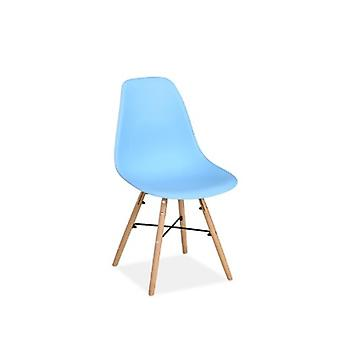 PAIR OF HEX CHAIRS DUCK EGG BLUE