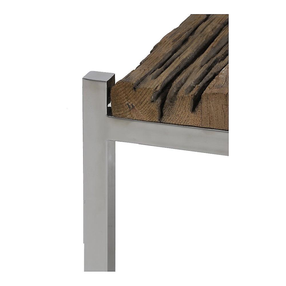 Table de café légère et vivante 65x71x40cm Sotos Wood-Nickel