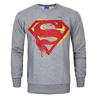 DC Comics Superman Stencil Men's Sweater