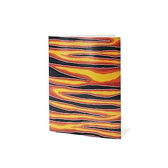 Fire Dreaming Aboriginal Greeting Card Blank Inside