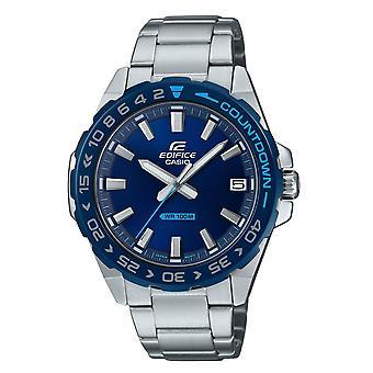 كاسيو الساعات Efv-120db-2avuef صرح الأزرق والفضة الفولاذ المقاوم للصدأ الرجال & apos&s ووتش