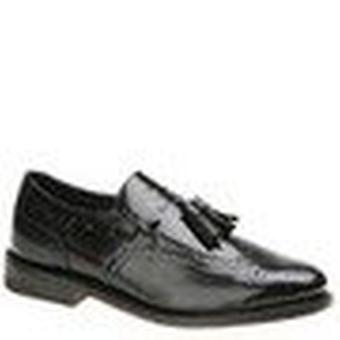 Executive Imperials Men's Wingtip Slip-On 12 4E US Black