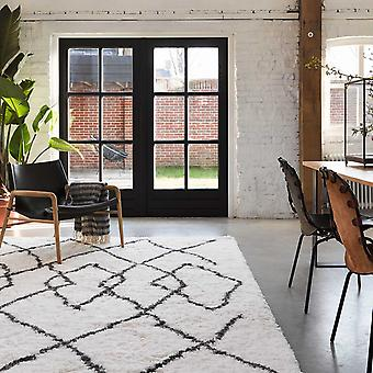 Boho And Scandic Afella Rugs 5965 695 In White And Anthracite