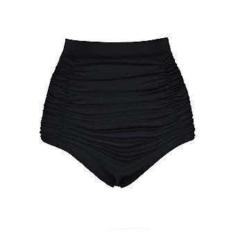 Womens Plus tamaño baño Bikini Tankini Stretch de talle alta acanalada separa los fondos