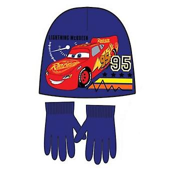 Disney cars boys hat and gloves set