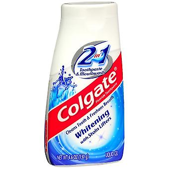 Colgate 2 in 1 toothpaste & mouthwash, whitening, 4.6 oz