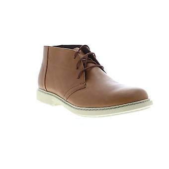 Camper Neuman Mens Brown Leather Mid Top Lace Up Chukkas Boots
