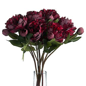 Hill Interiors Faux Burgundy Peony Rose
