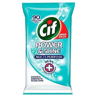 CIF Mega Pack Power & Shine Multi-Purpose Store og tykke klude 90 Pack
